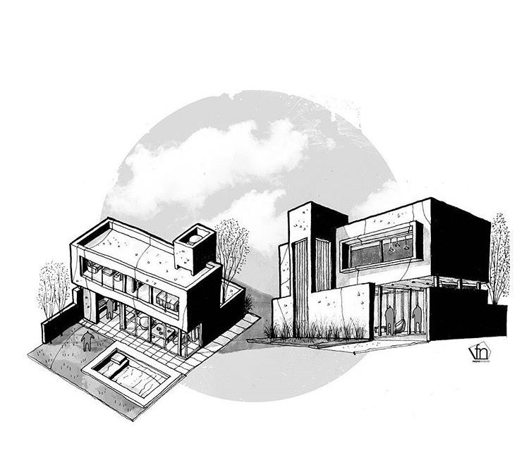 Sketches Architecture Mood Boards Arquitetura Croquis Draw