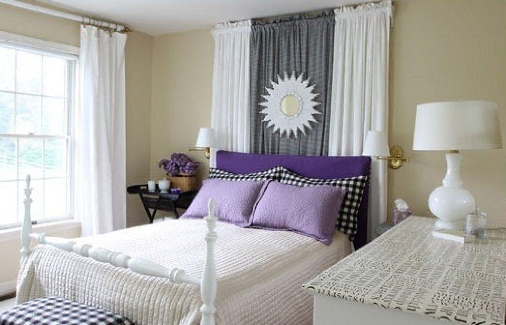 Truco c mo reutilizar las cortinas como cabecero blog y - Como poner unas cortinas ...