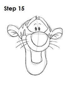Simple Cartoon Tigger Drawing