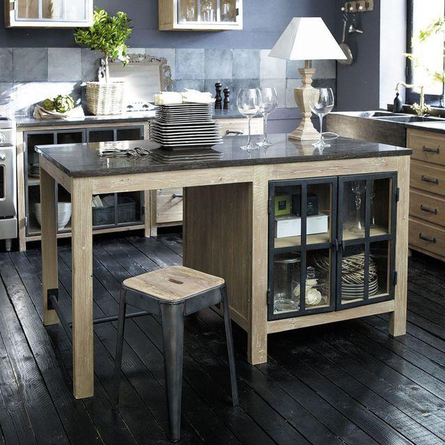 Cuisine avec îlot central  des modèles de cuisines avec îlot tendance - cuisine avec ilot central et table