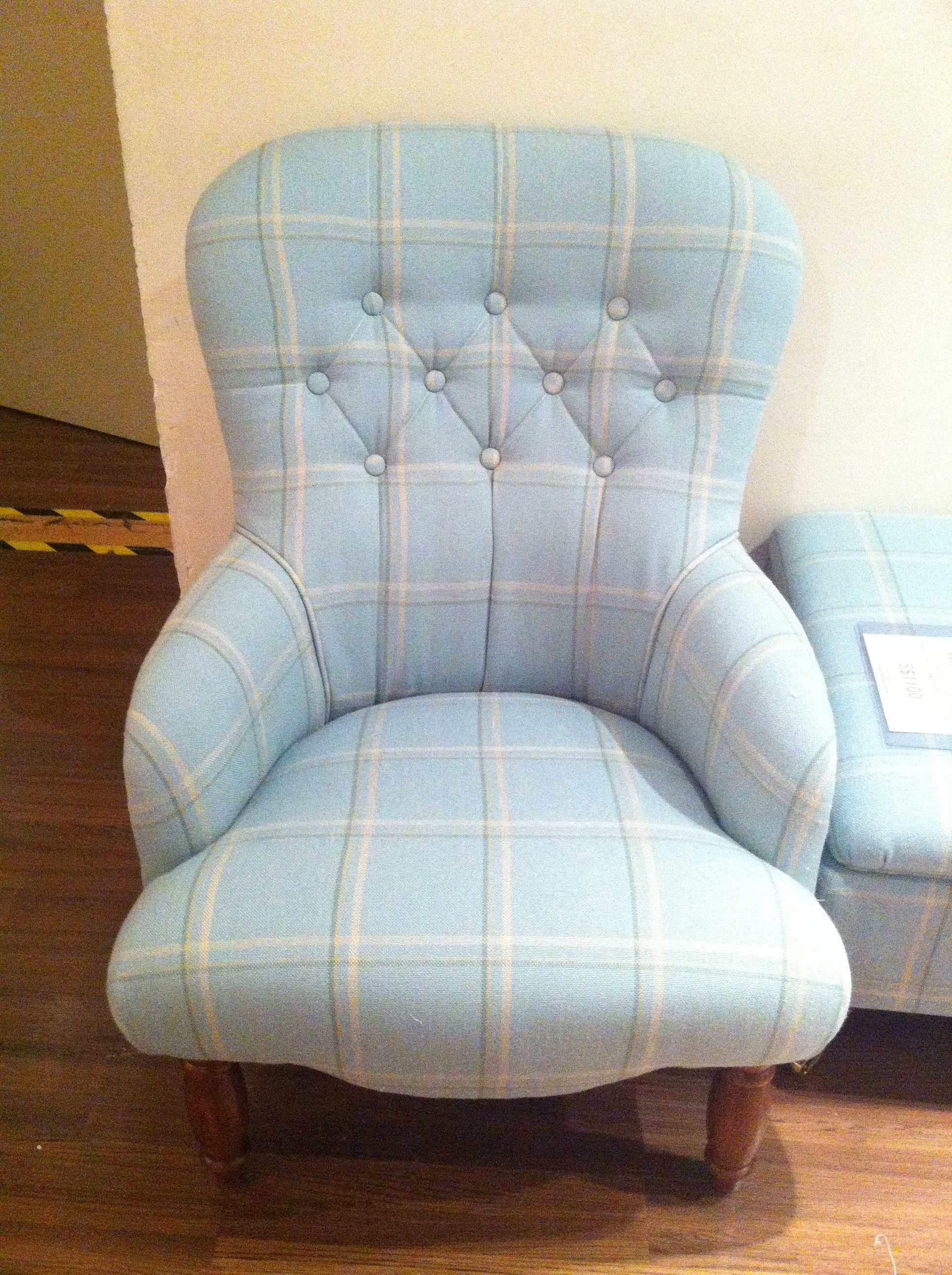 Laura Ashley fabric chair.. Cute