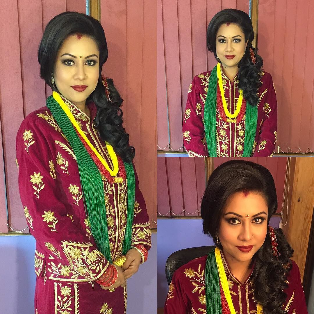 When eyes do the talking 2nd look for stunning Ms. Aayusha #makeupbyneharika #signaturekaalatika #lovehereyes #makeupartistsworldwide #makeupartist #promua #makeupartistnepal #receptionlook #modernbride #ranabride #royalbride  #nepalibride #asianbride #yaz #iloveit  by makeupbyneharika