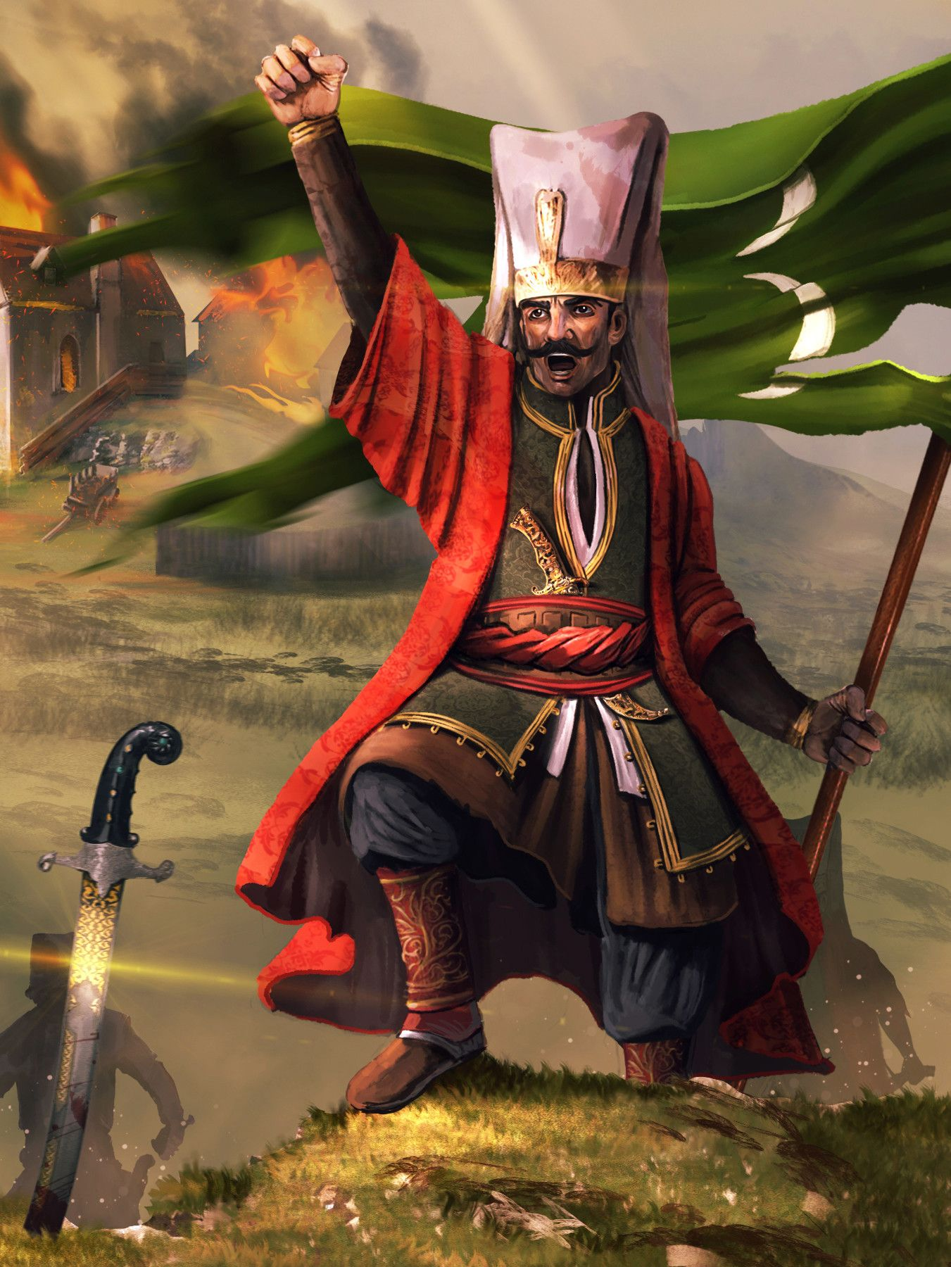 Turkish Janissary bannerman | Savaşçılar, Ortaçağ, AskeriOttoman Empire Janissaries