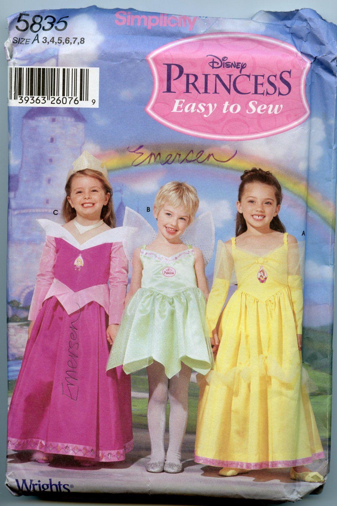 Fancy Dress Sleeping Beauty Girls Princess Aurora Kids Child Costume Red 3-8Y