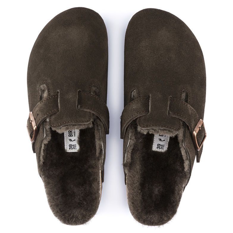 880146cda816 Boston Suede Leather Mocha Just arrived today! They are so warm and cozy!