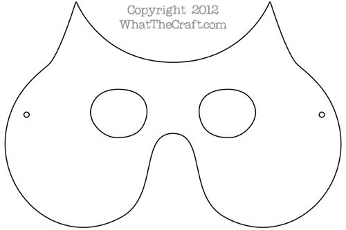 Owl mask free printable pdf pattern whatthecraft pattern for Owl templates for sewing