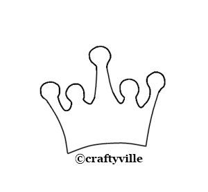 Use This Template To Trace The Princess Crown On A Piece