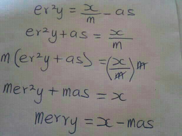 Merry Xmass Mathematical Equation & All Funny Christmass Pix Here ...