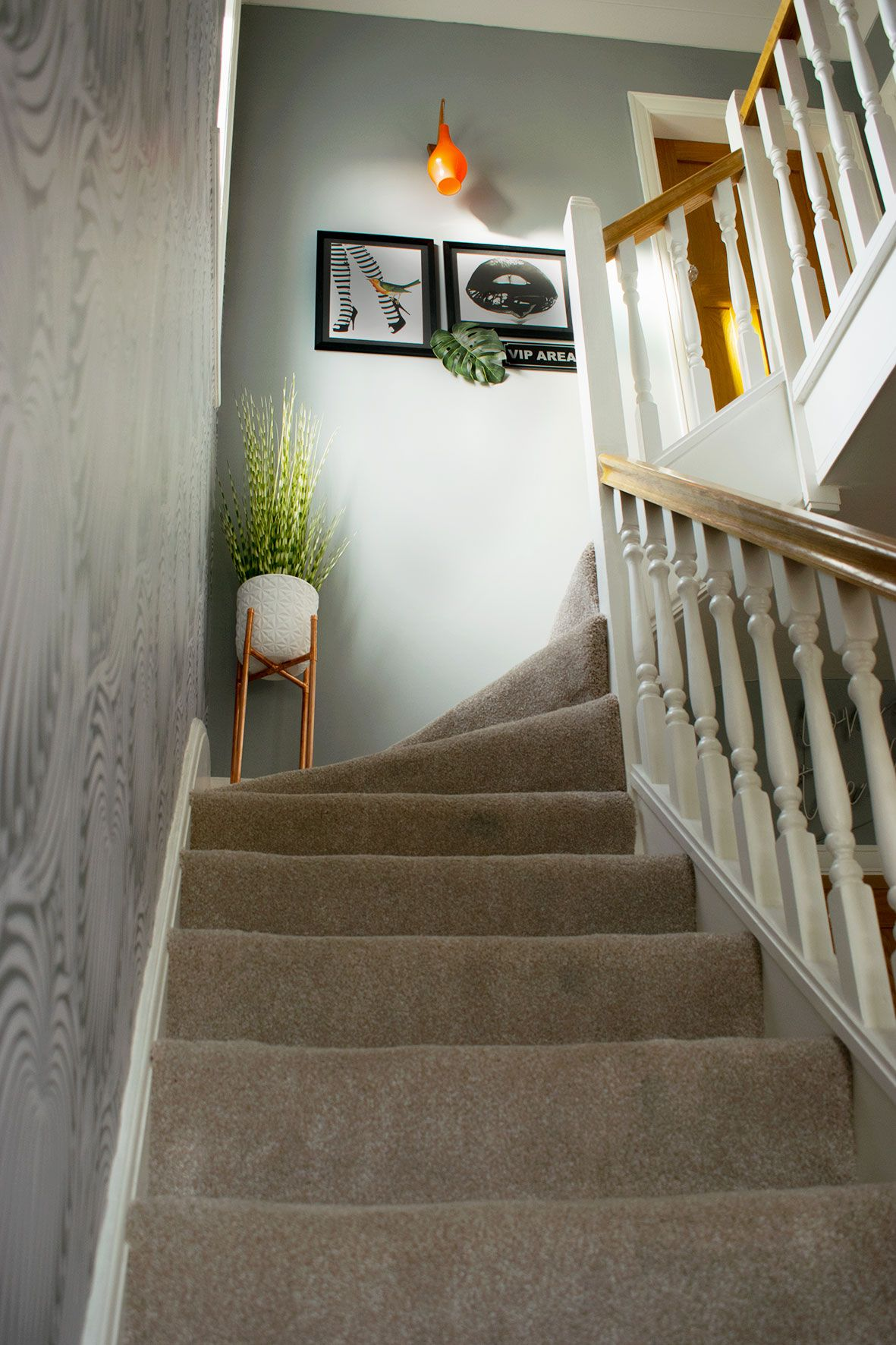 Hallway Refresh Entrance And Landing Mini Makeover Caradise Stair Decor Hallway Designs Stair Landing Decor
