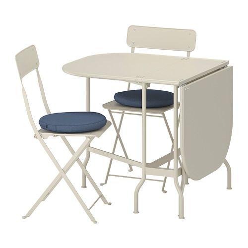 Saltholmen Tisch 2 Klappstuhle Aussen Beige Home Decor