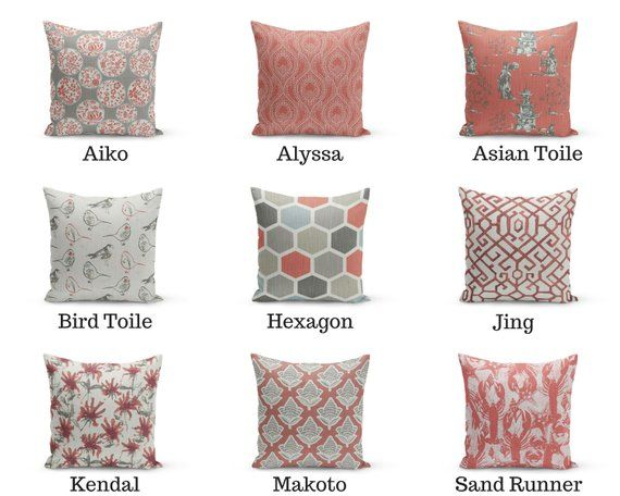 Scarlet Mix and Match Pillow Cover