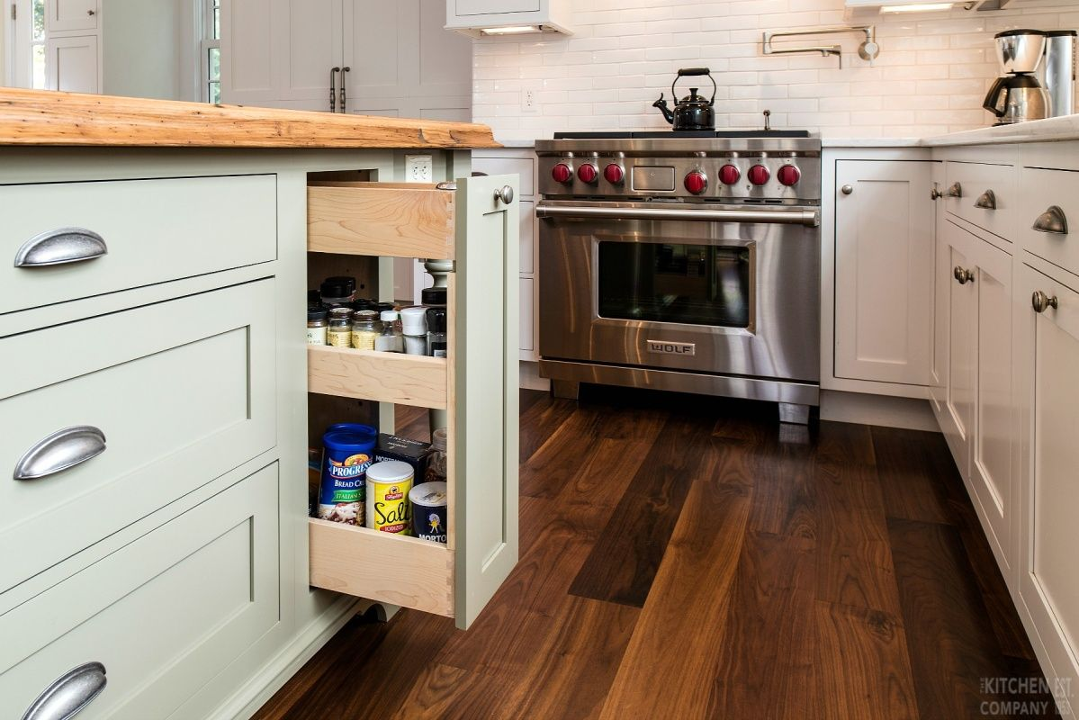 Charming 1920s Beach House Cabinetry Woodmode Brookhaven Cabinets With Nordic White Finish Island Split Kitchen Redesign Kitchen Renovation Kitchen Design