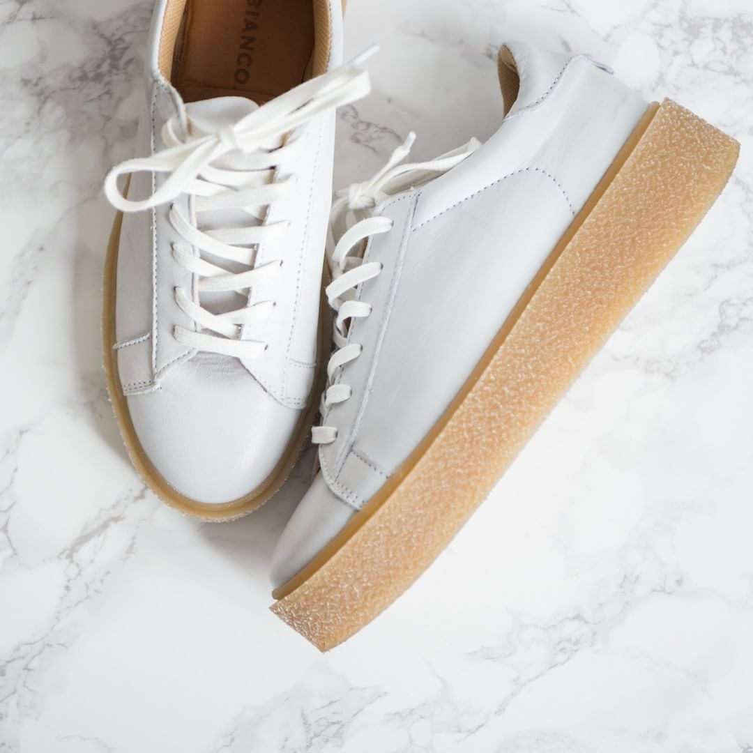 reputable site bc2a0 1e00b schuhe #sneaker #weiß #plateau Weiße Sneaker gehen einfach ...