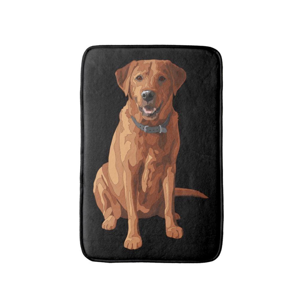 Fox Red Yellow Labrador Retriever Dog Bath Mat Retriever Dog