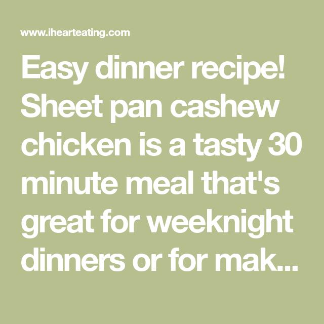 Photo of Sheet Pan Cashew Chicken – I Heart Eating