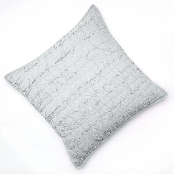 LC Lauren Conrad Allie Ruffle Euro Sham Grey 40 Liked On Enchanting Lc Lauren Conrad Faux Pearl Decorative Pillow