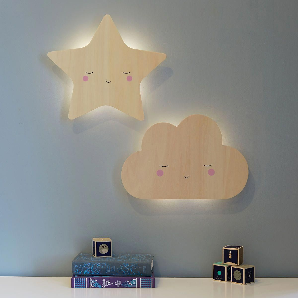A Wall Mounted Night Light For A Child S Bedroom Casting A Soft