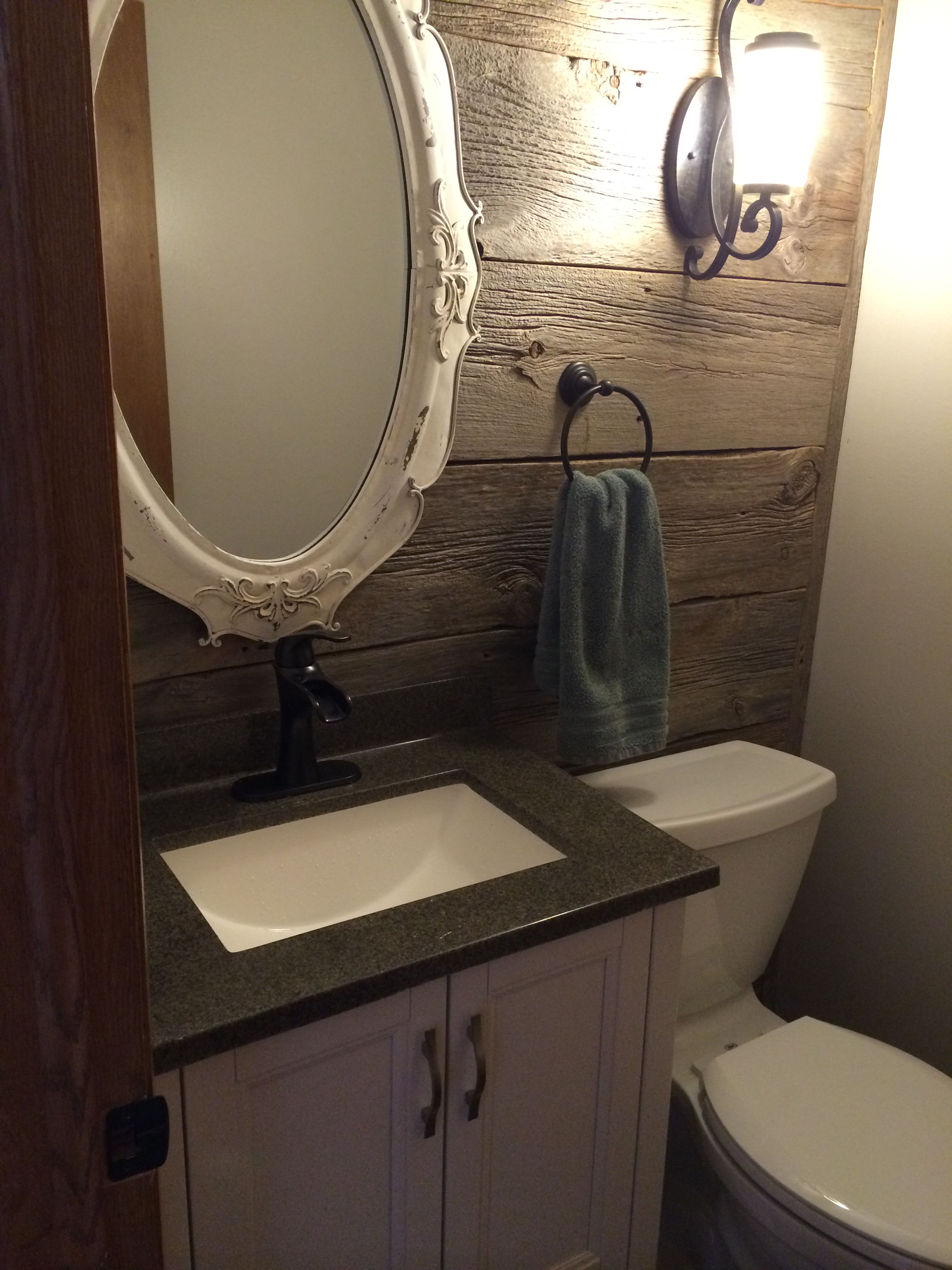 Barn board wall bathroom remodel (With images) | Bathrooms ...