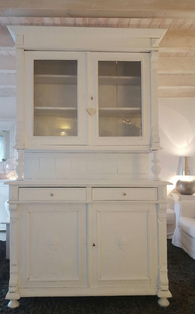 buffetschrank shabby wei weichholz schrank massiv anrichte kommode antik elena pinterest. Black Bedroom Furniture Sets. Home Design Ideas