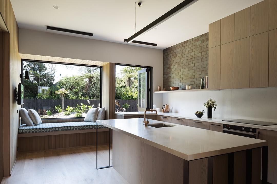 Houseundereave Kitchen With Window Seat Facing Garden A Social Room Not Open Plan Living But Not Seclude Contemporary House House Architect Design