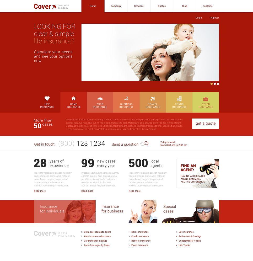 Insurance Responsive Wordpress Theme 48706 Wordpress Theme Wordpress Wordpress Template