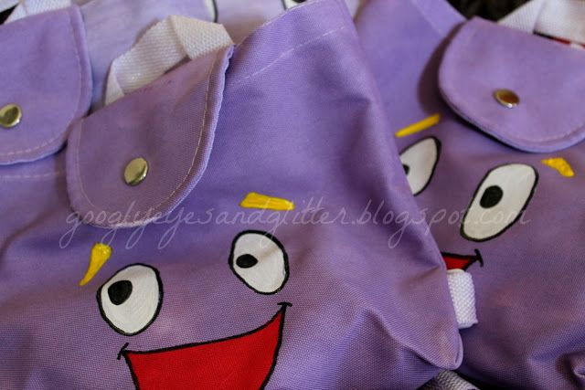 DIY Dora Birthday Party Backpacks super hero birthday Pinterest