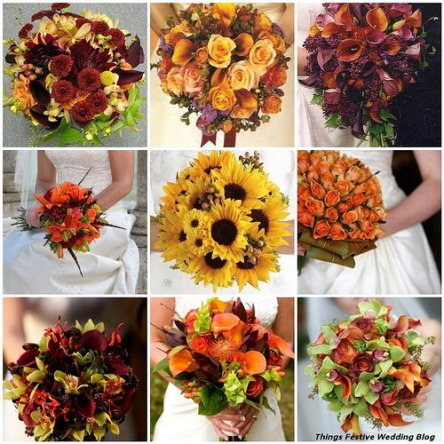these fall bridal bouquets range from simple to elegant