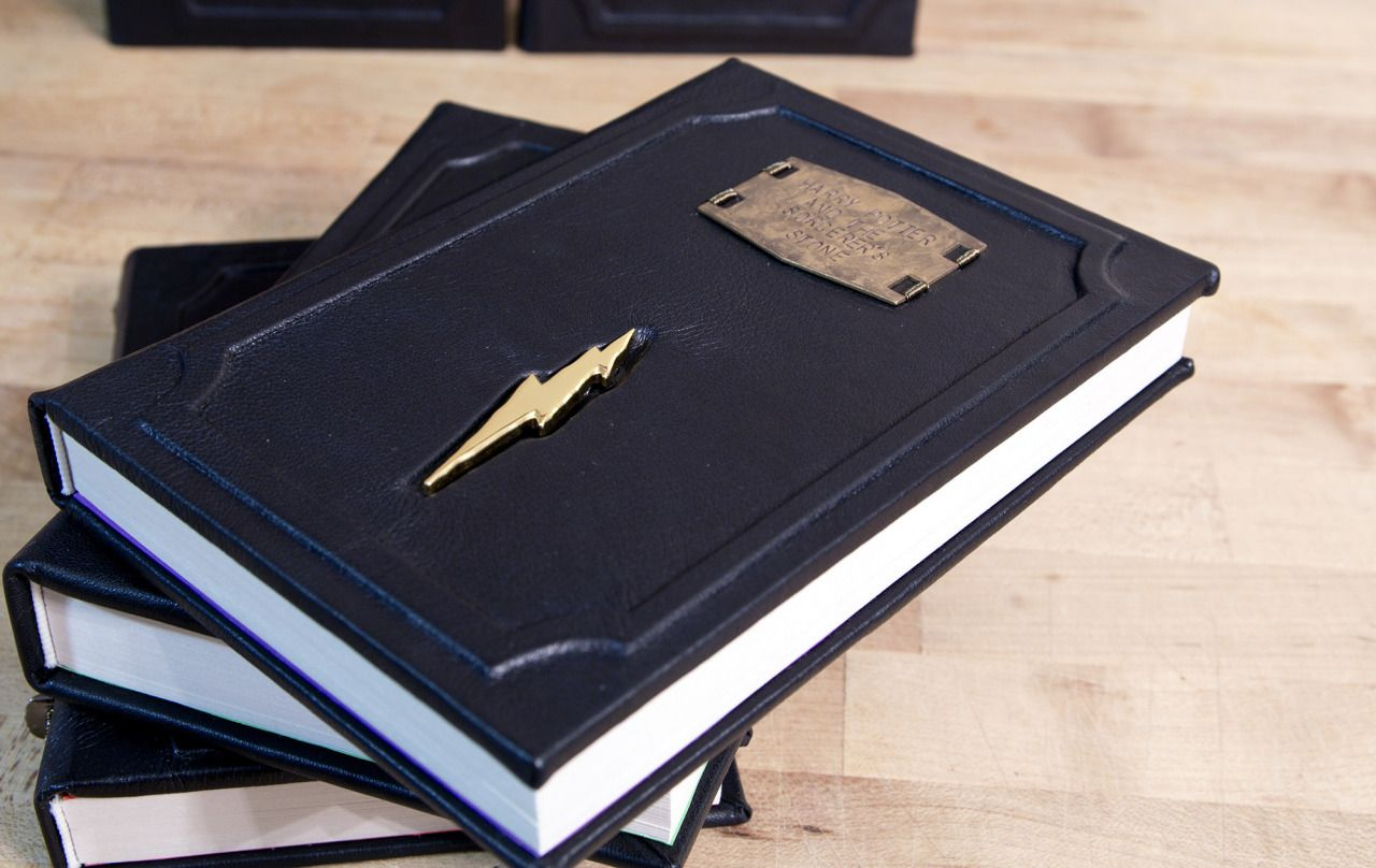 Custom Created Leather Bound Harry Potter Books With