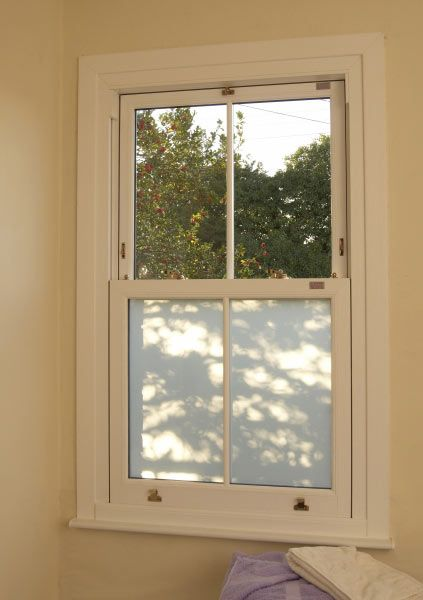 White Knight Upvc Sash Window With Obscured Glass Anglican Windows Upvc Sash Windows Sash Windows Double Glazing