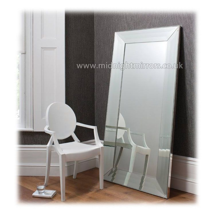 Wonderful Large Modern Mirror Part - 7: Charlotte Mirror - Large U0027Trayu0027 Clear Glass Framed Mirror [mm381] - £