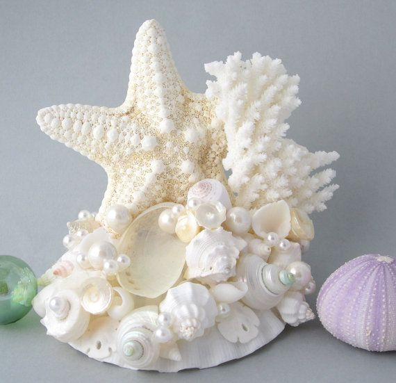 Beach Wedding Cake Topper Nautical Coastal Wedding Decor