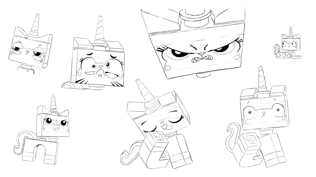 Lego The Many Faces Of Unikitty Coloring Pages Lego Coloring Pages Lego Coloring