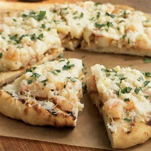 Grilled Shrimp Pizza #grilledshrimp