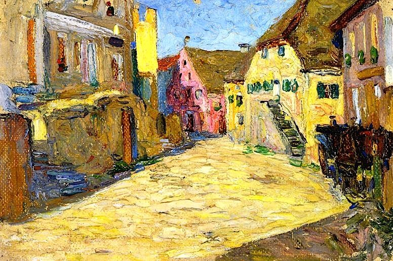 ۩۩ Painting the Town ۩۩ city, town, village & house art - Wassily Kandinsky - 1903
