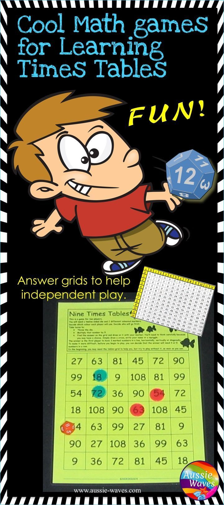Times Tables Math Games For Multiplication With Images Math Center Activities Math Centers