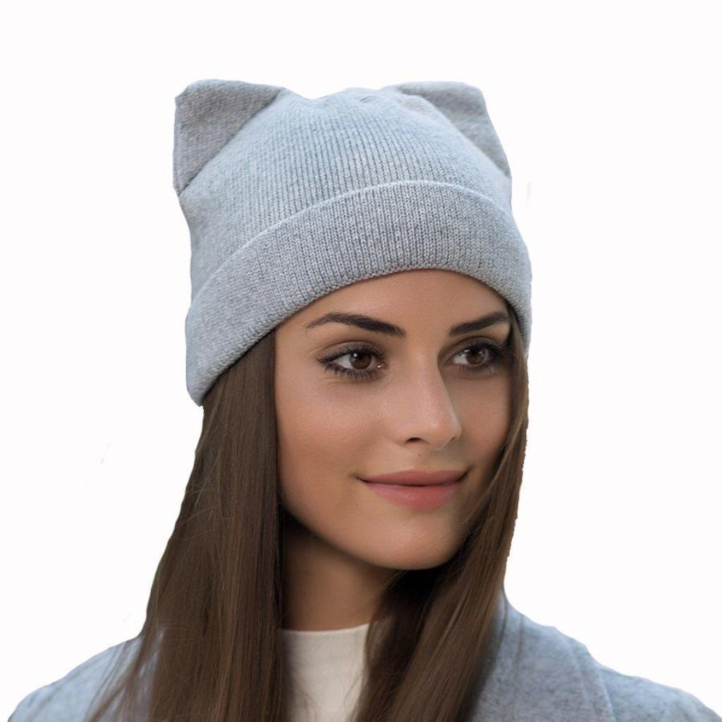 582a7696b3a Knitted Cat Ear Women Beanies  HatsForWomenOutfits