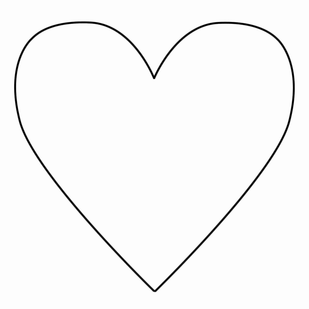 24 Heart Shape Coloring Page in 2020 (With images) | Heart ...