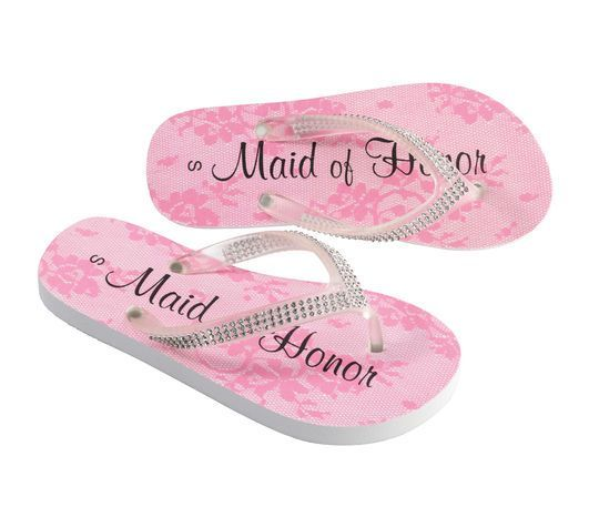 cd8929893c9d42 Lillian Rose™ Maid of Honor Flip Flops