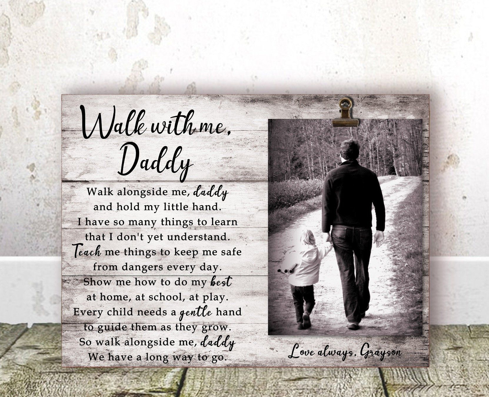 Fathers day gift for dad from son daddy frame dad picture