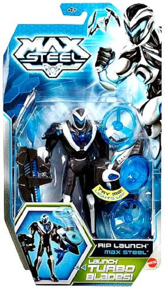 Max Steel RIP Launch Max Steel Figure Lights Up with Turbo Blades!! BNIP BCH12 #Mattel