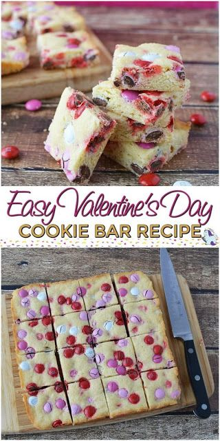 Easy Cookie Bar Recipefor Valentine S Day Resep Makanan Resep Makanan Penutup Resep Makanan