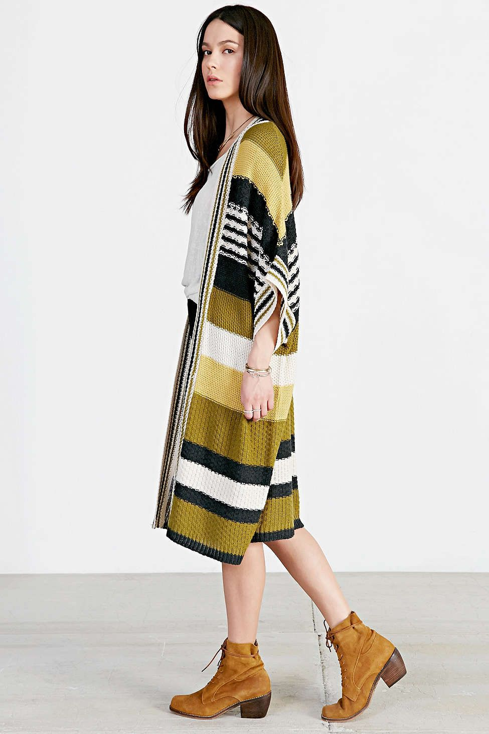 Ecote Striped Maxi Cardigan - Urban Outfitters | Knitting-Stricken ...