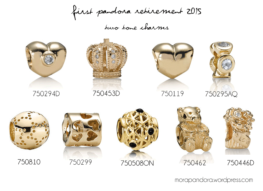 list of pandora gold charms - Google Search