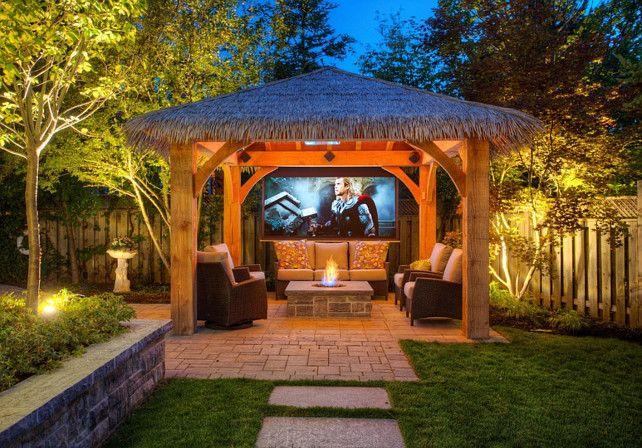 Outdoor Cabana Cabana With Outdoor Tv Cabana Outdoortv Cedar