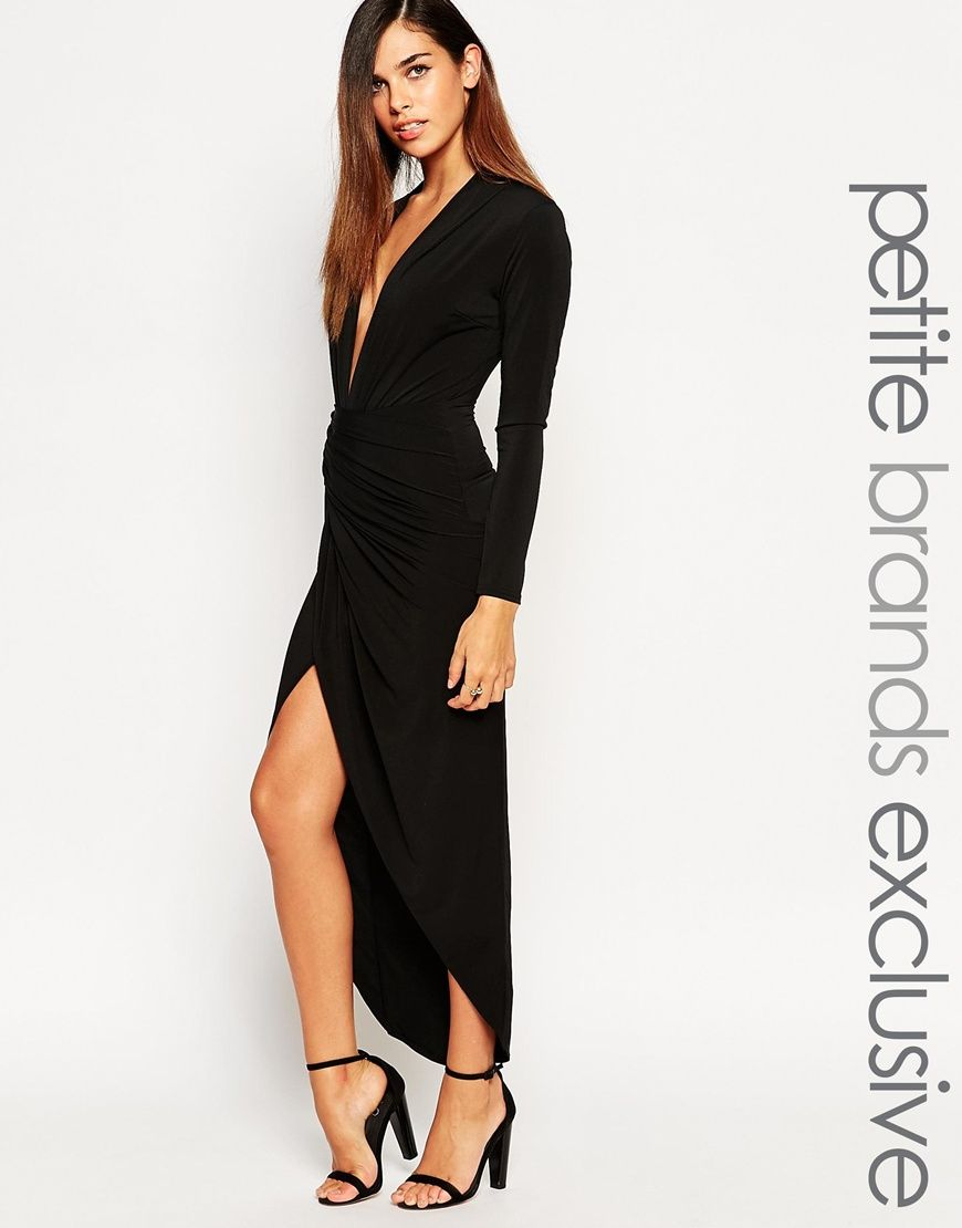 5b96e305bcc5 John Zack Petite Wrap Front Maxi Dress | Something worth wearing ...