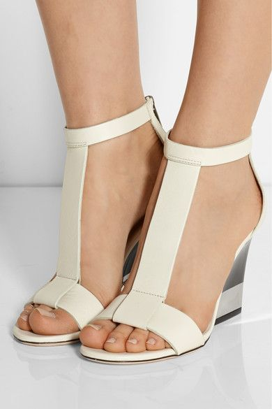 34f432d2c396 Jimmy Choo Milan Leather Wedge Sandals