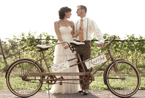 wedding inspiration a bicycle built for two