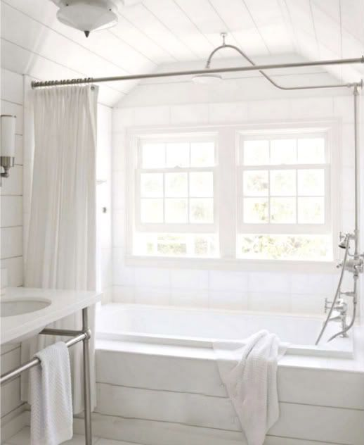 Everything Fabulous: Decor Inspiration: A Pure and Basic White Bathroom