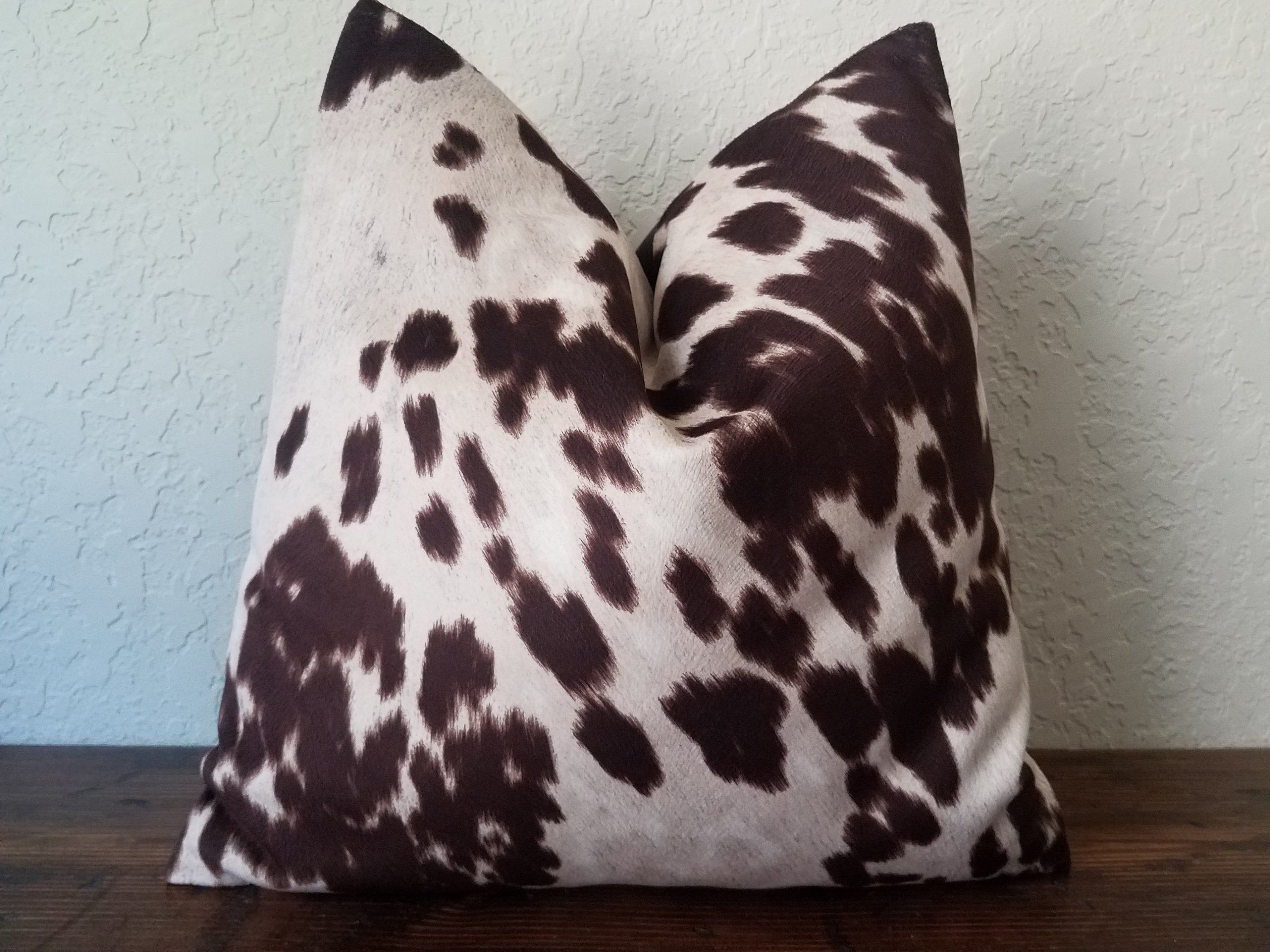 Faux Leather Pillow Cover Cowhide Pillow Cover Cowboy Style Pillow Decorative Pillows Cow Cushion Cover Highland Cow Gifts Body Pillow Cowhide Pillow Cover Cowhide Pillows Leather Pillow