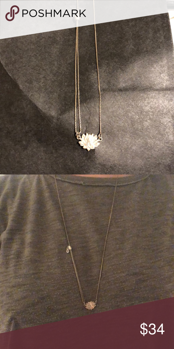 Alex Ani Lotus Long Chain Necklace This Has Been Gently Worn But